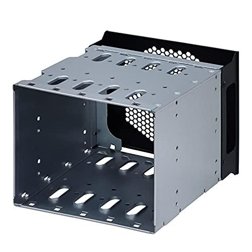 Joliy Rack de Bandeja de Adaptador de Jaula de Disco Duro SAS HDD SATA de 5,25 a 5 Pulgadas de 3,5 Pulgadas para 3 Ranuras de CD-ROM de 5,25 Pulgadas, PC Interna Externa con Espacio para Ventilador
