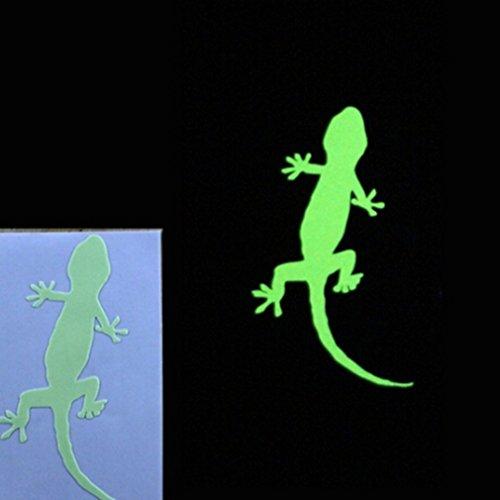 CanVivi Wandaufkleber Sticker Gecko Pattern Leuchtend im Dunkel Wanddeko Aufkleber Home Decor