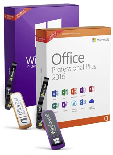 Windows 10 Professional & Office 2016 Professional Plus Bundle mit USB-Stick, Produktschlüssel