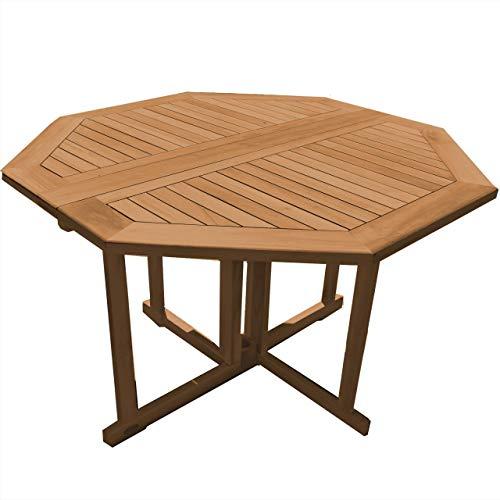 Klapptisch Savona Achteck Teak Massivholz Tischgröße Höhe 75 cm 120 x 120