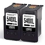 LEMERO Reconditionné Cartouches d'encre pour PG-540XL Multipack pour Canon Pixma MG2150 MG2250 MG3150 MG3250 MG3550 MG4150 MG4250 MX375 MX395 MX435 MX455 MX515 MX525 Imprimante,2Noir
