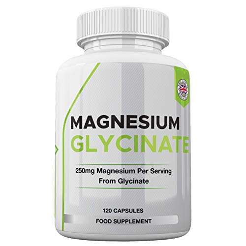 Magnesium Glycinate Capsules | 1250mg of Glycinate Providing 250mg of Pure Elemental Magnesium Per Serving | 120 Vegan High Strength Capsules | Magnesium Supplement