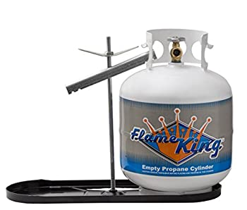 Flame King Dual RV Propane Tank Cylinder Rack for RVs and Trailers for 20lb Tanks - KT20MNT  Tanks not Included