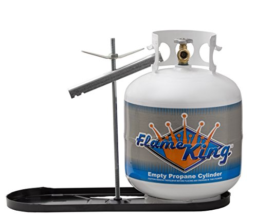 Flame King Dual RV Propane Tank Cylinder Rack for RVs and Trailers for 20lb Tanks - KT20MNT (Tanks not Included)