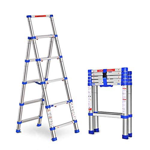 Telescópica extensible escalera telescópica escalera de extensión de espiga de aleación de aluminio, plegable Escalera retráctil Técnica doméstica lxhff