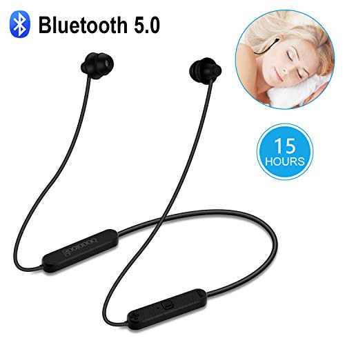 Bluetooth Sleep Headphones-Upgrade-GOOJODOQ CSR Bluetooth 5.0 Soft in-Ear Sleeping Earbuds,15 Hours Music time,Wireless Sleep Headsets with Built-in Mic for Insomnia, Side Sleeper