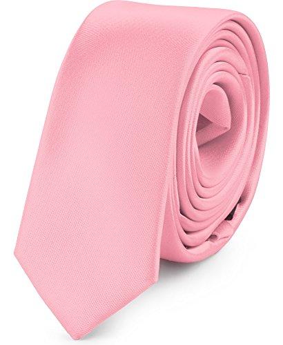 Ladeheid Corbatas Estrechas Diversidad de Colores Accesorios Ropa Hombre SP-5 (150cm x 5cm, Rosa)