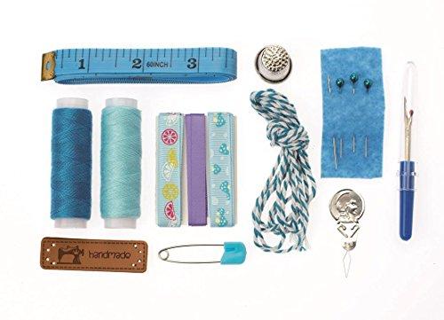GLOREX 6 8619 812 Kit de Couture Violet Rose, Polyester, Bleu, 14 x 8.6 x 2 cm