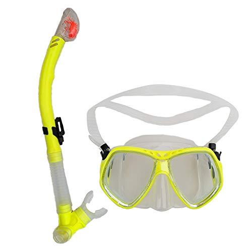 Toygogo Conjunto De Accesorios De Buceo Máscara De Marco Grande Y Gafas Y Tubo De Snorkel Seco