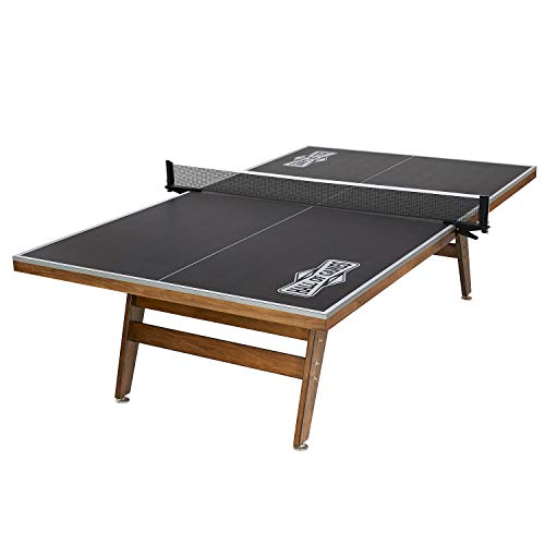 Hall of Games Official Size Wood Table Tennis Table, Gray/Brown, 108