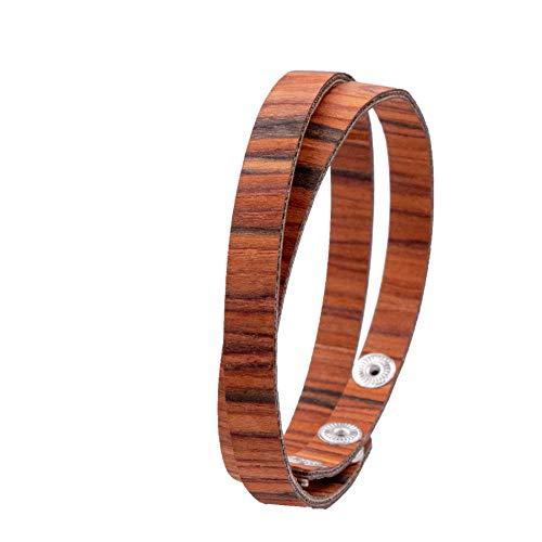 LAiMER Holzarmband - Damen & Herren Wickel-Armband aus Feinem Holz - Größenverstellbar 55-65 mm Durchmesser aus Rosenholz