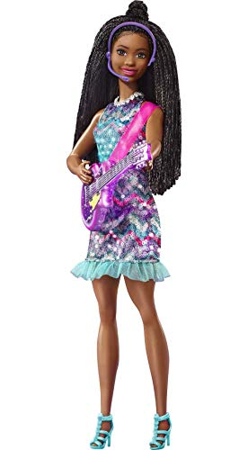 """Barbie: Big City, Big Dreams Singing Barbie """"Brooklyn"""" Roberts Doll (11.5-in Brunette with Braids) with Music, Light-Up Feature, Microphone & Accessories, Gift for 3 to 7 Year Olds"""