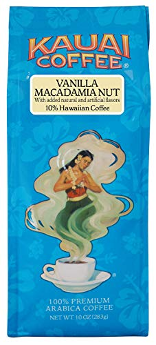 Kauai Coffee Vanilla Macadamia Nut Ground, 10 Ounce