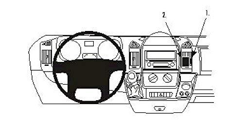 Brodit ProClip Support de Fixation pour Citroen Jumper 07-09 Montage incliné Noir