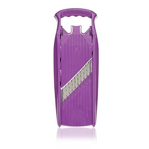 Börner Gemüseschneider Welle-Waffel Powerline - BPA frei Wellenschneider Waffelschneider Gemüseschneider Gemüsehobel (1. Welle-Waffel, Violett)