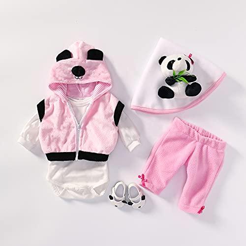 MineeQu 4 stili diversi per bambole appena nate di alta qualità da 50-55 cm vestito interamente da bambole