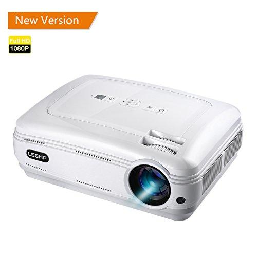 YKS- Proiettore 3200 Lumen 1080P Full HD Video proiettore Supporta Laptop Xbox VGA USB SD Speaker HDMI per Computer TV Laptop Gaming con Telecomando