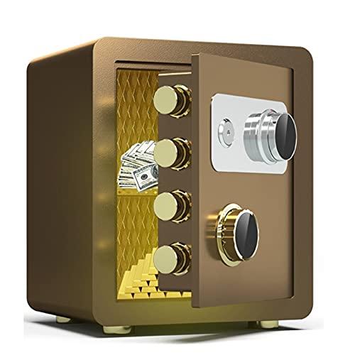 Cajas Fuertes con Cerradura de código Digital con Llave, 40 cm, Caja Fuerte antirrobo Resistente al Fuego con 4 Pernos de Acero, Utilizada para Oficina en casa, Efectivo, Documentos y Joyas