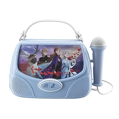 Bevroren 2 Draagbare MP3 Karaoke Machine Speler, Zing Langs Met behulp van de Real Working Microphone, verbinding maken met een mp3 apparaat
