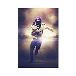 Dalvin Cook Minnesota Vikings Football Player Sports Poster (2) Canvas Poster Wall Art Decor Print Picture Paintings for Living Room Bedroom Decoration 12×18inch(30×45cm) Unframe-style1