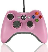 Duafire filaire Manette de jeu USB pour Xbox 360et PC (Rose)