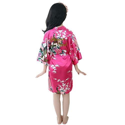 Kimono del Traje De Las Niñas, Simulado Albornoz De Seda