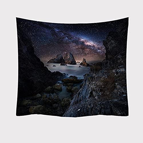 YDyun Colgante de Pared, decoración de Pared artísticamente Impresa para Sala de Estar y Dormitorio, Impresión de la Serie Starlight de Tapiz Decorativo de Tela Colgante