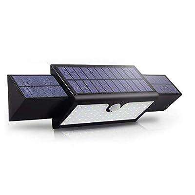 Solar Motion Sensor Security Step Light Waterproof Patio Wall Flood Lighting