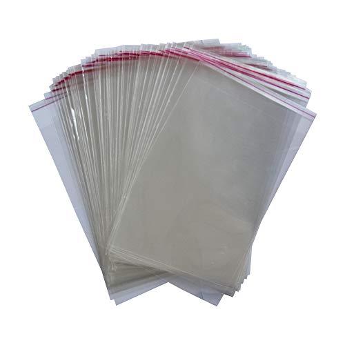 IBOO Plastiktüten, transparent, selbstklebend, für Kekse, Schmuck, Bonbons (200, 20 x 30 cm)