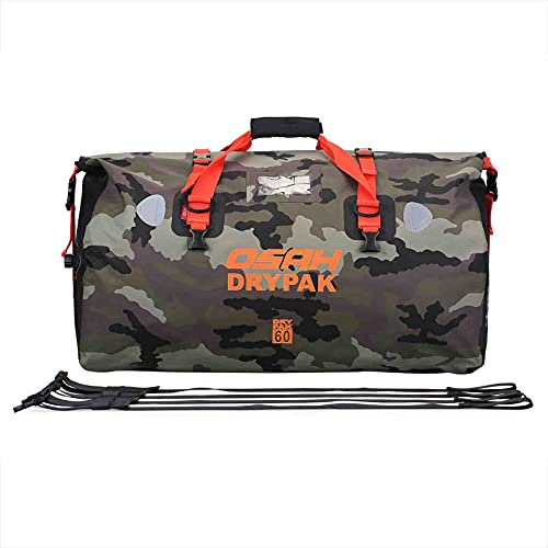 BORLENI Motorcycle Waterproof Dry Duffel Bag Tail Seat Bags for Travel Motorcycling Cycling Hiking Camping Boating with Adjustable Shoulder Strap