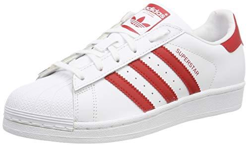 Adidas Superstar J-CG6609, Unisex-Kinder Hallenschuhe, Weiß (Blanco 000), 36 2/3 EU (4 UK)