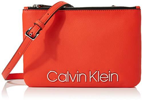 Calvin Klein Damen Ck Must Crossover Umhängetasche, Orange (Tangerine), 5x16x24 cm