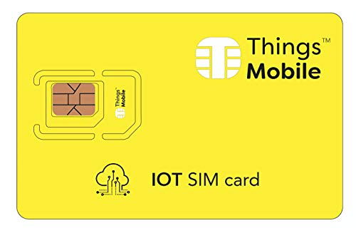 Cloud IOT SIM Card IOT - Things Mobile - Cobertura Global y Red multioperador GSM/2G/3G/4G, sin costes fijos, sin vencimiento y tarifas competitivas con Portal Cloud de gestión y Control