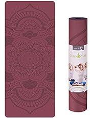 TOPLUS Pilatesmatta, gymnastikmatta, yogamatta, halkfri tillverkad av TPE, träningsmatta, sportmatta för yoga, pilates, fitness 183 x 61 x 0,6 cm.