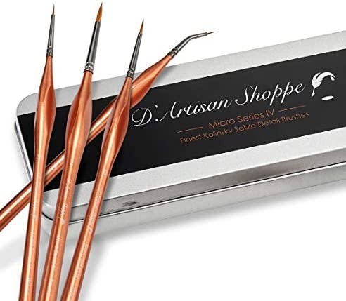 Small Paint Kolinsky Sable Brushes Fine Tip Professional Micro Miniature Paintbrush for Watercolor product image