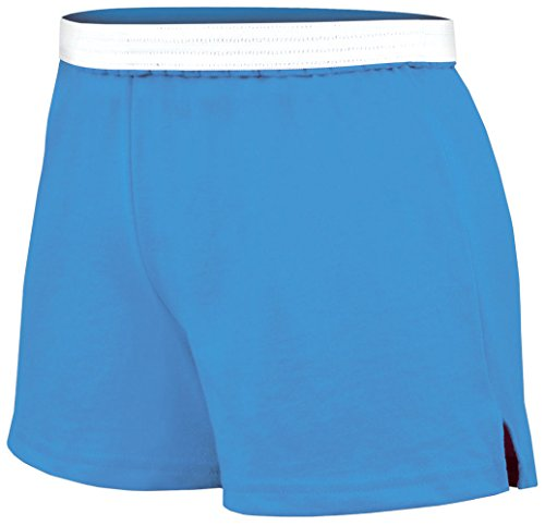 Soffe Junior's Authentic Cheer Short, Columbia Blue, Large