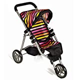 Mommy & Me Baby Doll Stroller Foldable Doll Jogger with...