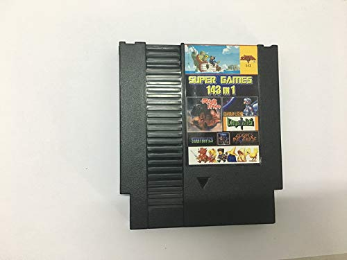 143 in 1 Best Newest NES Video Game Multi Cart 8-Bit 72-Pin Black Cartridge with Sleeve