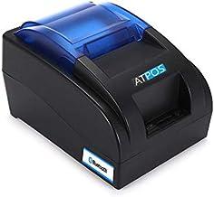 AtPOS H58BTU Bluetooth + USB Desktop Thermal Receipt Printer 58mm | Wireless Phone Connectivity | Invoice Receipt Printing - Blue