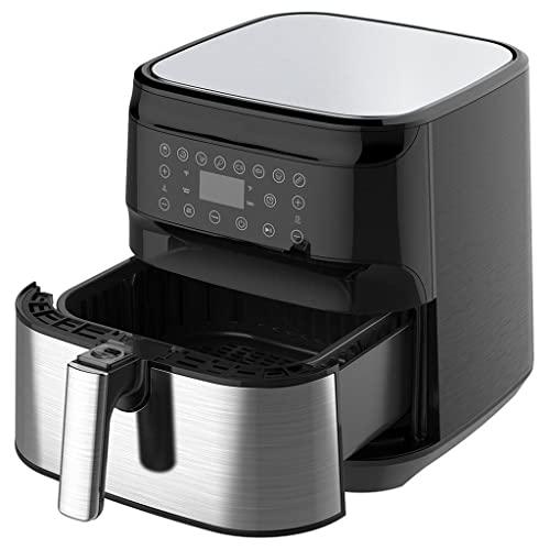 ZPDD Aplicación Smart Air Fryer y Alexa Control 5.5L de Capacidad Cocina sin Aceite para Pizza Freidoras de Aire eléctricas con Pantalla táctil
