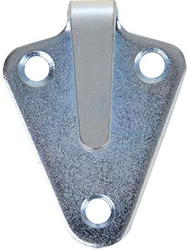 iapyx 10 Stück Dreiloch Planenhaken 50x40mm hochwertig gestanzt verzinkt im Polybeutel