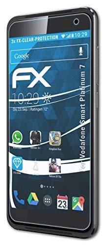 atFolix Schutzfolie kompatibel mit Vodafone Smart Platinum 7 Folie, ultraklare FX Bildschirmschutzfolie (3X)
