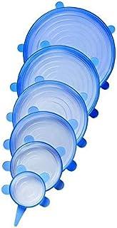 أغطية مطاطية من السيليكون باللون الأزرق لحفظ الطعام ومقاومة للحرارة وقابلة للتجميد للاستخدام في الميكرويف، متعدد المقاسات،...