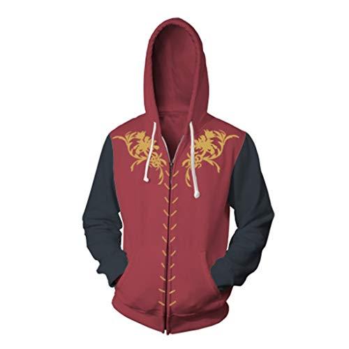 GOT Tyrion Lannister Hoodie Cosplay Costume 3D Zip Up Jacket Sweatshirt Game Thrones Accessories Men Women XXL