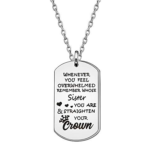 Daughter Gift From Mom Dad Pendant Necklace Jewellery from Mom Dad Inspirational Necklace for Daughter Granddaughter Niece (SISTER)