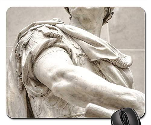 Mauspad Julius Caesar Römisches Italien Rom Statue Kaiser Mausunterlage Anti Rutsch Gummiunterseite Multifunktionales Gaming Mousepad Hochwertiges Gaming Mausmatte Für Laptop/Pc, 25X30 Cm