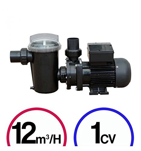 Bomba filtración piscina–1CV 12MÜ–/H–Poolstyle