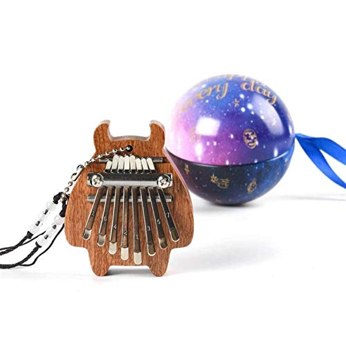 Kalimba, Daumenklavier 8 Tasten Mini Kalimba Exquisite Finger Daumenklavier Musik Gut Zubehör Anhänger Geschenke