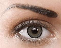 PHANTASY Eyes® HOLLYWOOD Lentillas de color natural (Sugar Grey) - 1 par (2 PIEZAS) - sin dioptrías + INCLUYE ESTUCHE GRATIS