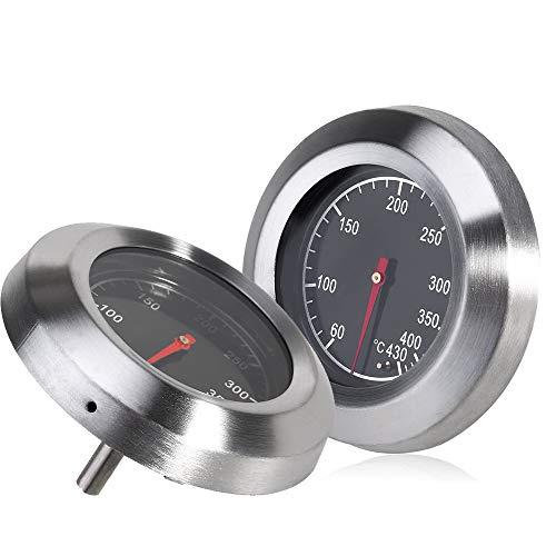 IWILCS Edelstahl Barbecue Thermometer,Edelstahl Zeigerthermometer,BBQ Grillthermometer,für alle Grills, Smoker, Räucherofen und Grillwagen, Grillzubehör 60°C -430°C